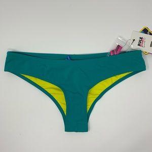 Arena aqua bikini bottoms XL unique brief NWT